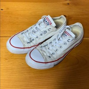 White All Star Low Top Converse